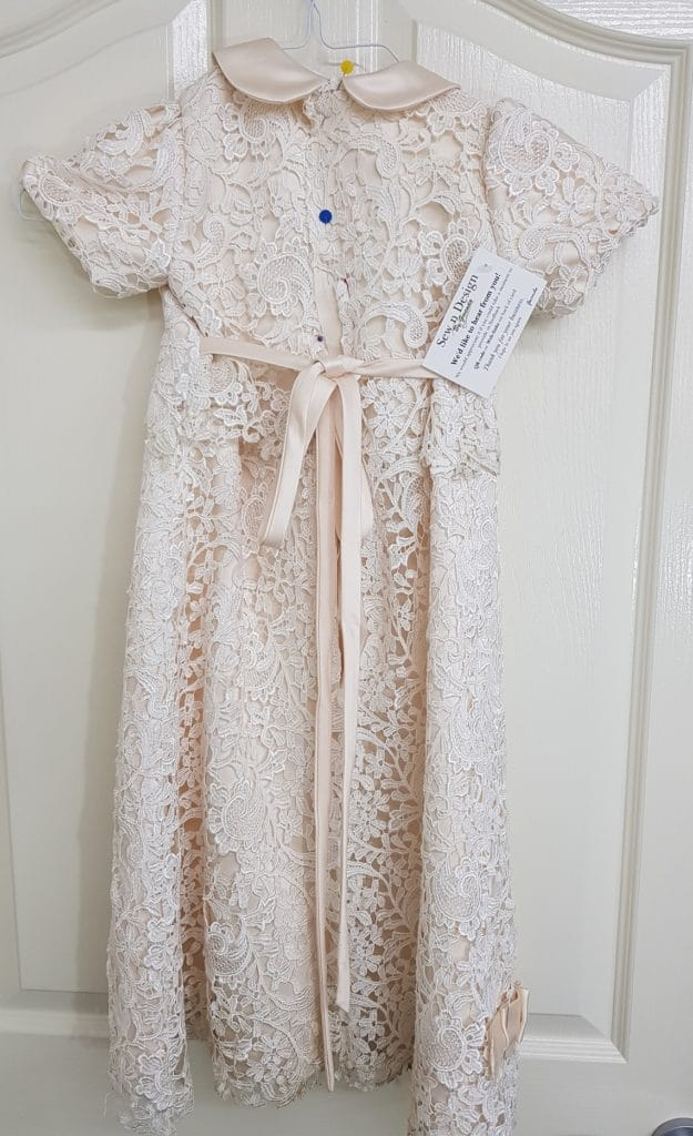 Christening gown process