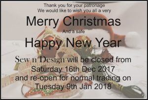 Christmas & New Year Hours 2017